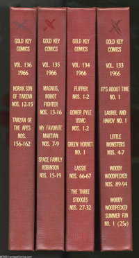Gold Key Bound Volumes (Gold Key, 1966-67). Four big volumes of Silver Age Gold Key comics are offered in this lot, whic...