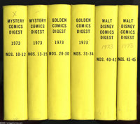 Gold Key Digest Titles Bound Volumes (Gold Key, 1973). These six volumes all contain Gold Key file copies which were tri...