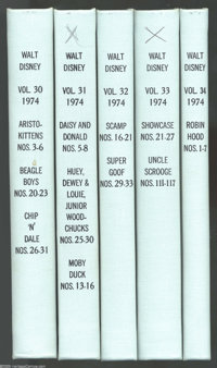Gold Key Miscellaneous Walt Disney Titles Bound Volumes (Gold Key, 1974-75). Here's an opportunity to stock up on some d...