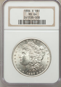 1886-S/S $1 VAM-2, MS64 NGC. A Top 100 Variety. NGC Census: (17/5). PCGS Population: (32/18). MS64. From The Superior...