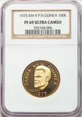 Papua New Guinea, Papua New Guinea: Republic gold Proof 100 Kina 1975 PR69 Ultra Cameo NGC,...