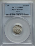 Netherlands:Holland, Netherlands: Holland. Provincial Stuiver 1760 MS66 PCGS,...