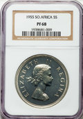 South Africa, South Africa: Elizabeth II Proof 5 Shillings 1955 PR68 NGC,...