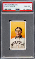Baseball Cards:Singles (Pre-1930), 1909-11 T206 Old Mill Charles Seitz PSA NM-MT 8 - Pop Two, None Higher! ...
