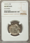 Standing Liberty Quarters, 1919-S 25C -- Cleaned -- NGC Details. AU. NGC Census: (15/210). PCGS Population: (48/386). CDN: $600 Whsle. Bid for problem...