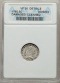 Early Half Dimes, 1795 H10C V-5, LM-8, R.3 -- Damaged, Cleaned -- ANACS. VF3...