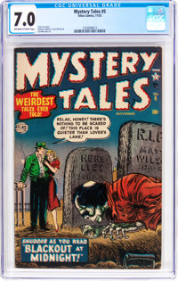 Mystery Tales #5 (Atlas, 1952) CGC FN/VF 7.0 Off-white to white pages