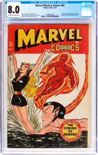 Marvel Mystery Comics #82 (Timely, 1947) CGC VF 8.0 Off-white to white pages