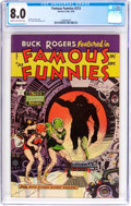 Golden Age (1938-1955):Science Fiction, Famous Funnies #213 (Eastern Color, 1954) CGC VF 8.0 Cream tooff-white pages....