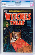 Golden Age (1938-1955):Horror, Witches Tales #2 (Harvey, 1951) CGC VF 8.0 Light tan to off-white pages....