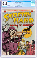 Golden Age (1938-1955):Horror, Skeleton Hand #1 (ACG, 1952) CGC NM 9.4 Cream to off-white pages....