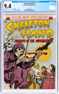Skeleton Hand #1 (ACG, 1952) CGC NM 9.4 Cream to off-white pages