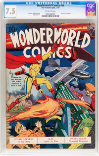 Wonderworld Comics #11 (Fox, 1940) CGC VF- 7.5 Off-white pages