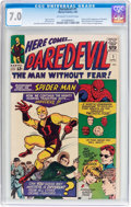 Silver Age (1956-1969):Superhero, Daredevil #1 (Marvel, 1964) CGC FN/VF 7.0 Off-white to whitepages....