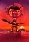 Movie Posters:Science Fiction, Star Trek IV: The Voyage Home by Bob Peak (Paramount, 1987). Signedand Framed Original Mixed-Media Poster Artwork (Artwork:...