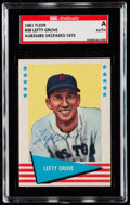 Autographs:Sports Cards, Signed 1961 Fleer Lefty Grove #38 SGC Authentic. ...
