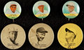 Baseball Cards:Singles (1930-1939), 1930's Boston Pin Backs Collection (6). ...