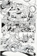 Original Comic Art:Panel Pages, George Pérez JLA/Avengers #1 Story Page 16 Original Art(Marvel/DC, 2003)....