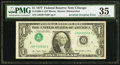Error Notes:Inverted Third Printings, Inverted Overprint Type I Fr. 1909-G $1 1977 Federal Reserve Note.PMG Choice Very Fine 35.. ...