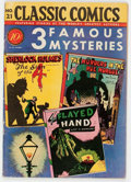 Golden Age (1938-1955):Classics Illustrated, Classic Comics #21 Three Famous Mysteries - First Edition 1A(Gilberton, 1944) Condition: FN-....