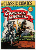 Golden Age (1938-1955):Classics Illustrated, Classic Comics #20 The Corsican Brothers - First Edition(Gilberton, 1944) Condition: FN....