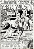 Original Comic Art:Splash Pages, George Tuska and Johnny Craig Iron Man #9 Splash Page 1 HulkOriginal Art (Marvel, 1969)....