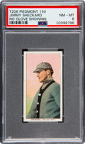 Baseball Cards:Singles (Pre-1930), 1909-11 T206 Piedmont 150 Jimmy Sheckard (No Glove Showing) PSA NM-MT 8 - Only Two Higher. ...