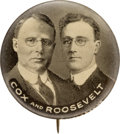 "Political:Pinback Buttons (1896-present), Cox & Roosevelt: The ""Holy Grail"" Jugate Button for These 1920 Running Mates...."