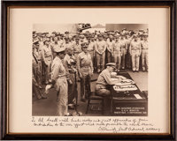 Japanese Surrender in Tokyo Bay: Chester Nimitz Signed Photograph