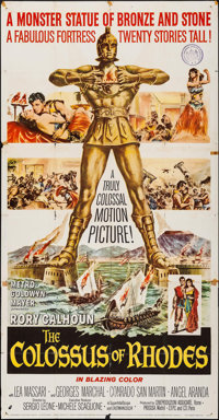 "The Colossus of Rhodes (MGM, 1961). Folded, Fine. Three Sheet (41"" X 79""). Adventure"
