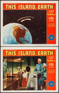 "Movie Posters:Science Fiction, This Island, Earth (Universal International, 1955). Lobby Cards (2)(11"" X 14""). Science Fiction.. ... (Total: 2 Items)"