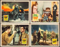 "Movie Posters:War, Crash Dive & Other Lot (20th Century Fox, 1943 & R-1956). Lobby Cards (4) (11"" X 14""). War.. ... (Total: 4 Items)"
