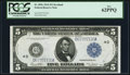 Large Size:Federal Reserve Notes, Fr. 859c $5 1914 Federal Reserve Note PCGS New 62PPQ.. ...