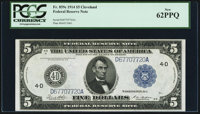 Fr. 859c $5 1914 Federal Reserve Note PCGS New 62PPQ