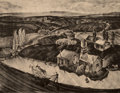 Fine Art - Work on Paper:Print, Phil Dike (1906-1990). Untitled (Farm Life), n.d.. Lithograph on paper. 11-1/2 x 14-7/8 inches (29.2 x 37.8 cm) (image)...