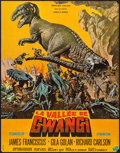 "Movie Posters:Science Fiction, The Valley of Gwangi (Warner Brothers, 1969). French Moyenne (22.5"" X 30"") Frank McCarthy Artwork. Science Fiction.. ..."