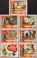 """Movie Posters:Animation, The Adventures of Ichabod and Mr. Toad (RKO, 1949). Title Lobby Card & Lobby Cards (6) (11"""" X 14""""). Animation.. ... (Total: 7 Items)"""