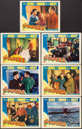 """Movie Posters:War, The Invaders (Columbia, 1941). Lobby Cards (7) (11"""" X 14""""). War..... (Total: 7 Items)"""