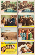 "Movie Posters:War, Thirty Seconds Over Tokyo (MGM, 1944). Title Lobby Card & LobbyCards (7) (11"" X 14""). War.. ... (Total: 8 Items)"