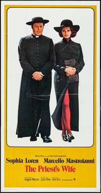 """The Priest's Wife (Warner Brothers, 1971). International Three Sheet (41"""" X 79""""). Foreign"""