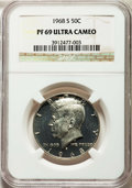 Proof Kennedy Half Dollars, 1968-S 50C PR69 Ultra Cameo NGC. NGC Census: (574/0). PCGS Population: (411/16). ...