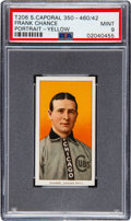 Baseball Cards:Singles (Pre-1930), 1909-11 T206 Sweet Caporal 350-460/42 Frank Chance (Portrait-Yellow) PSA Mint 9 - Pop Two, None Higher! ...