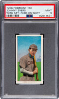 Baseball Cards:Singles (Pre-1930), 1909-11 T206 Piedmont 150 Johnny Evers (With Bat-Cubs on Shirt) PSAMint 9 - Pop Two, None Higher! ...
