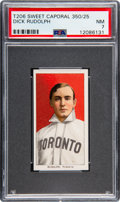 Baseball Cards:Singles (Pre-1930), 1909-11 T206 Sweet Caporal 350/25 Dick Rudolph PSA NM 7 - Only One Higher! ...