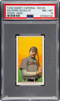 Baseball Cards:Singles (Pre-1930), 1909-11 T206 Sweet Caporal 150/30 Wildfire Schulte (Front View) PSANM-MT 8 - Pop Four, One Higher. ...