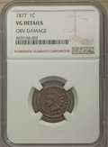 1877 1C -- Obv Damage -- Details NGC. VG. NGC Census: (269/1763). PCGS Population: (461/3003). CDN: $475 Whsle. Bid for...