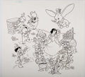 Animation Art:Production Drawing, Disney Multi-Character Parade Illustrations Group of 3 (Walt Disney, c. 1970s-80s).... (Total: 3 Original Art)