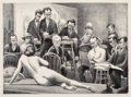 Fine Art - Work on Paper:Print, Mabel Dwight (1876-1955). Life Class, 1931. Lithograph onpaper. 9-7/8 x 13-1/2 inches (25.1 x 34.3 cm) (image). 13-7/8 ...