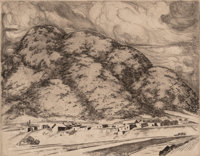 Howard Norton Cook (1901-1980) Arroyo Hondo, n.d. Etching on paper 7 x 8-7/8 inches (17.8 x 22.5