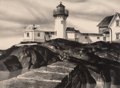 Fine Art - Work on Paper:Print, Stow Wegenroth (1906-1978). Eastern Point, 1935. Lithograph on paper. 9-1/2 x 13 inches (24.1 x 33 cm) (image). 13 x 17-...